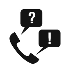 Handset with question and answer vector image vector image