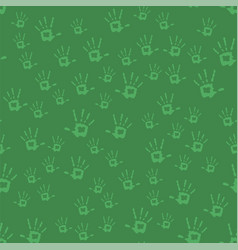 human hands seamless pattern vector image