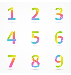 Logo numbers 1 2 3 4 5 6 7 8 9 company design vector image vector image