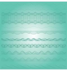 Ornamental guilloche seamless pattern vector image vector image