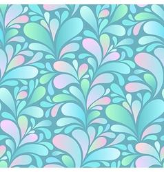 paisley pattern blue vector image