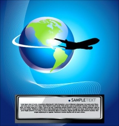 airliner background vector image
