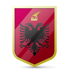 Coat of arms of Albania vector image vector image