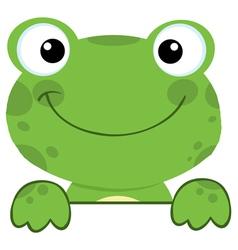 Cute Frog Smiling Over A Sign Board vector image vector image