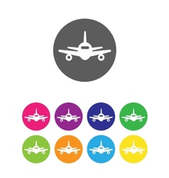 Flat air plane icons vector image vector image