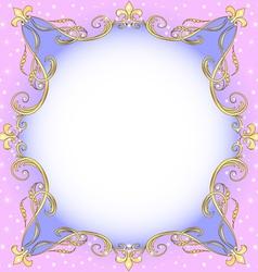 Golden Ornamental Frame vector image vector image
