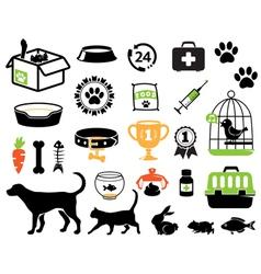 Petshop set vector image