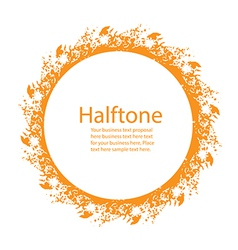 Sunny Halftone Design Element vector image vector image