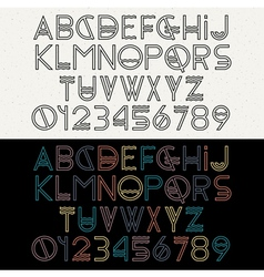 Alphabet letters and numbers vector image vector image