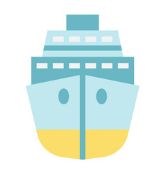 cruise flat icon travel and tourism vector image vector image