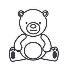 teddy beartoy line icon sign vector image