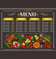 a vegetarian restaurant vector image
