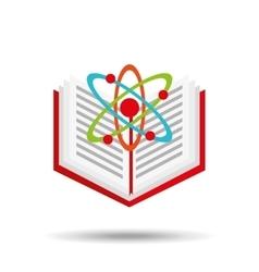 book school open and atom vector image
