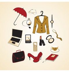 business woman elements vector image