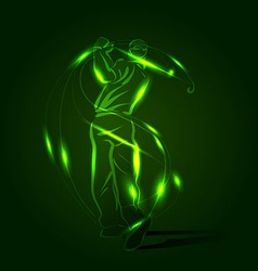 Abstract background with golfer vector image