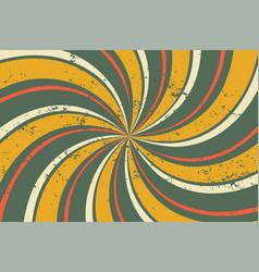 Abstract grunge retro twirl spiral line pattern vector