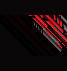abstract red grey geometric cyber futuristic vector image