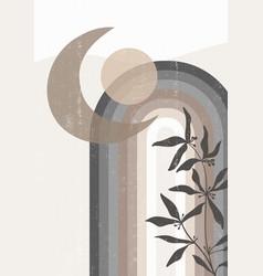 Abstract sun print boho minimalist printable wall vector