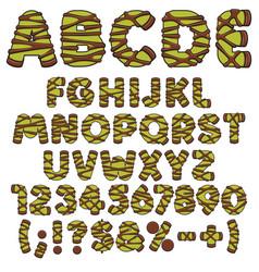 alphabet green punschrulle dammsugare vector image