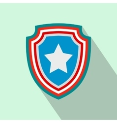 American badge flat icon vector