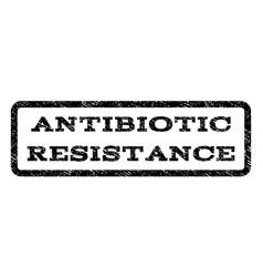 Antibiotic resistance watermark stamp vector