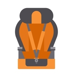 Baby car seats cartoon flat colored vector