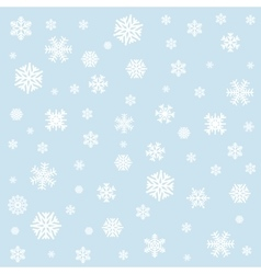 Background with white snowflakes vector