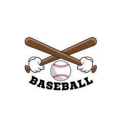 baseball logo emblem baseball tournament on vector image