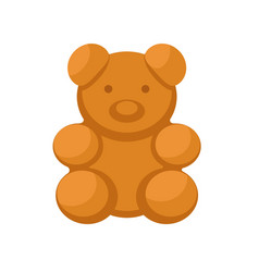Bear biscuit icon flat style vector