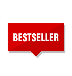 bestseller red tag vector image