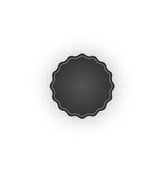 Black abstract badge frame halftone dots logo vector