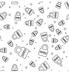 Black lock vpn icon isolated seamless pattern on vector