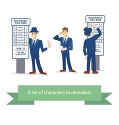 Bookie character cartoon comic man vector image