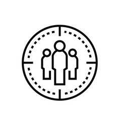 business team - line design single isolated icon vector image