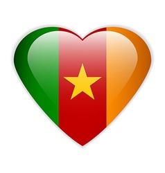 Cameroon flag button vector image