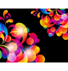 Card background Abstract bright color drops and vector image