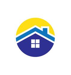 Circle rohousing logo vector