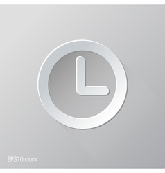 Clock Flat Icon Design vector