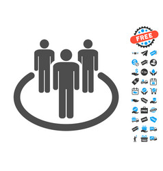 Community flat icon with free bonus elements vector