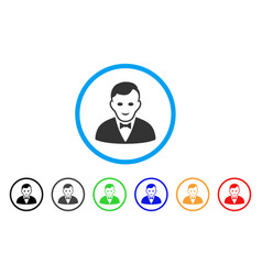 Croupier manager icon vector