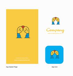 Curtain company logo app icon and splash page vector