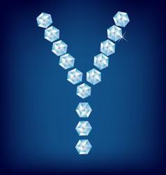 Diamond alphabet letter y vector