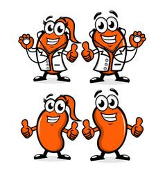 Doctor kidney mascot logo vector