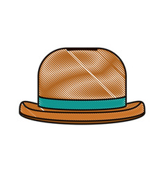 Doodle fashion hat object carnival style vector