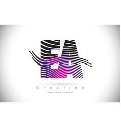 Ea e a zebra texture letter logo design with vector