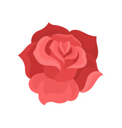 flat icon of rose bud gentle flower with vector image