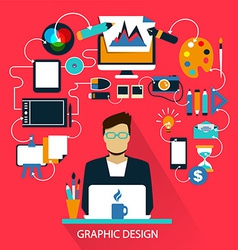 Freelance career graphic design vector