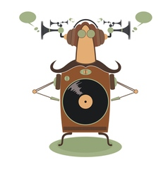 Funny jukebox vector image