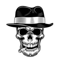 Gangster skull vector