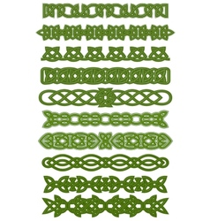 Green celtic knots ornaments vector image
